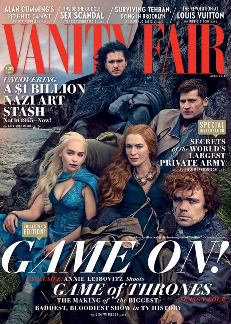 """Game of Thrones"" for Vanity Fair -Vanity Fair, photographer, Game of Thrones, famous"