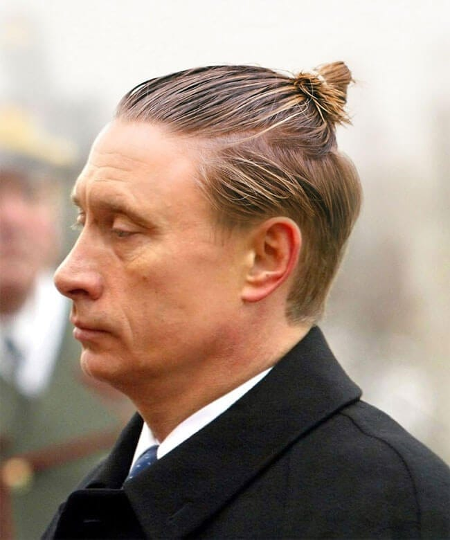 Politicians From Around The World Are Given A Man Bun -style, politics, photo manipulation, Barack Obama