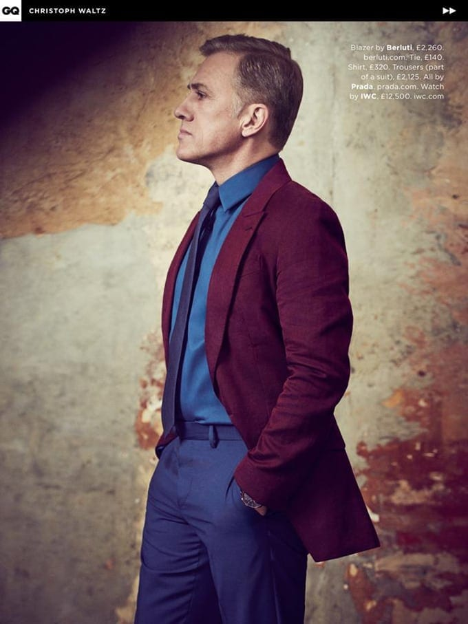 Christoph Waltz covers UK GQ May 2015 -photo session