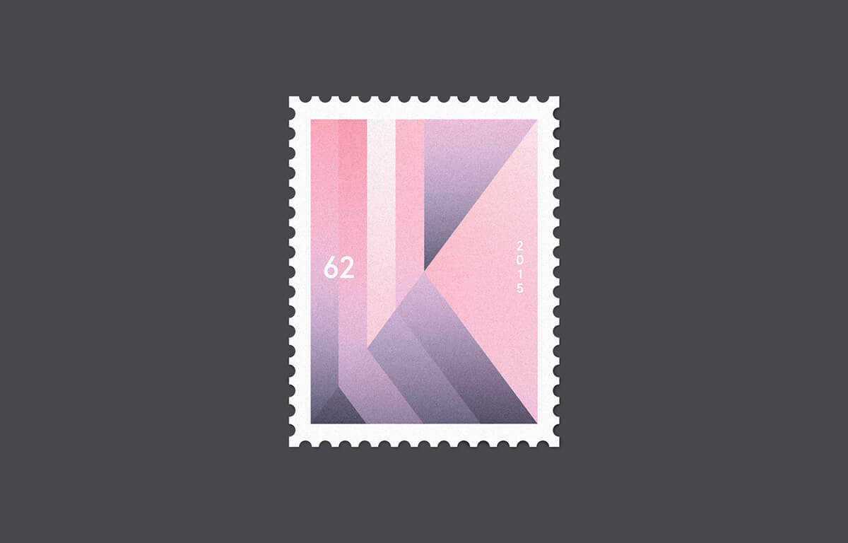 Designer Creates Geometric Stamps Inspired by The Alphabet -graphic design, alphabet