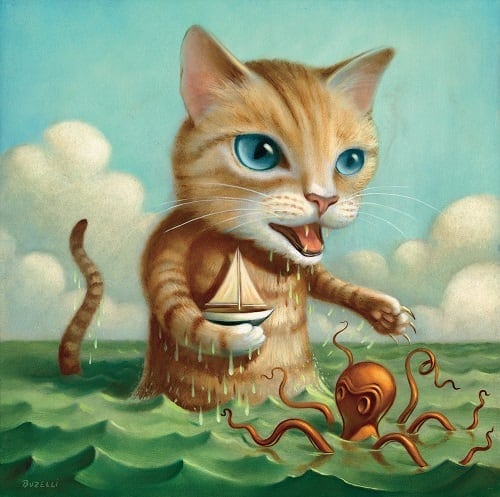 Illustrator Chris Buzelli Paints His Characters with Magical Realism -monsters