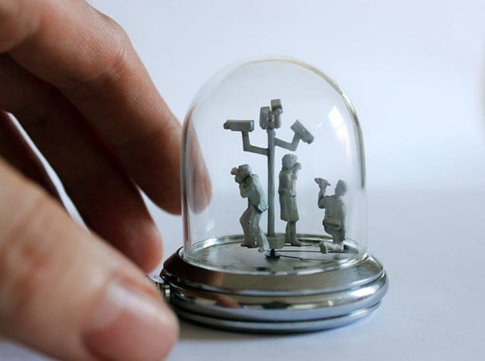 Moments in Time by Dominic Wilcox -watches, mini-sculptures