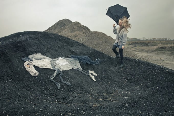 """Ulrika Kestere """"The Girl With the 7 Horses"""" -photo-series, horses"""