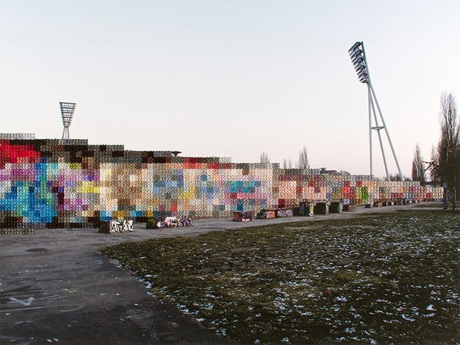 Photography Cross-Stitch And Rebuilding The Berlin Wall -photography, artist