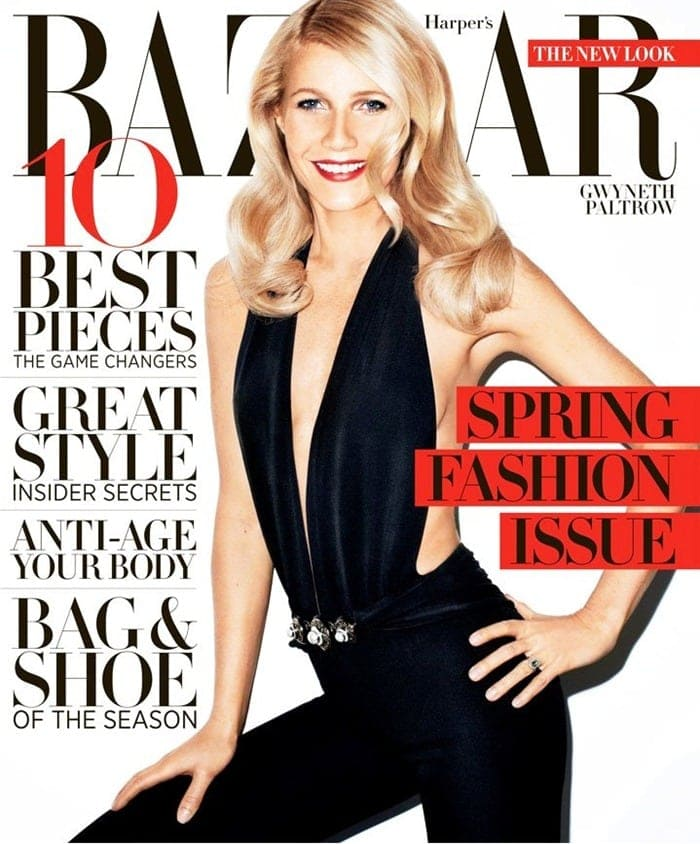 Gwyneth Paltrow on the cover of Harper's Bazaar -photoshoot, magazine, Harper's Bazaar, actresses