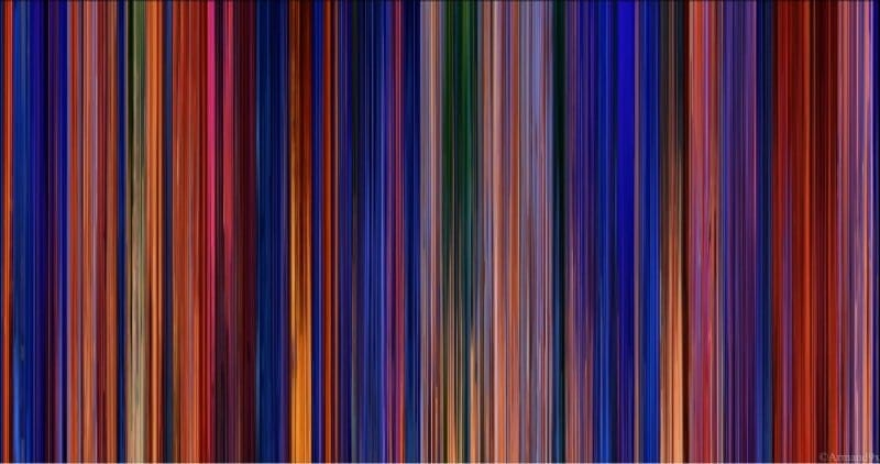 The Colors Of Disney And Pixar As Barcodes -