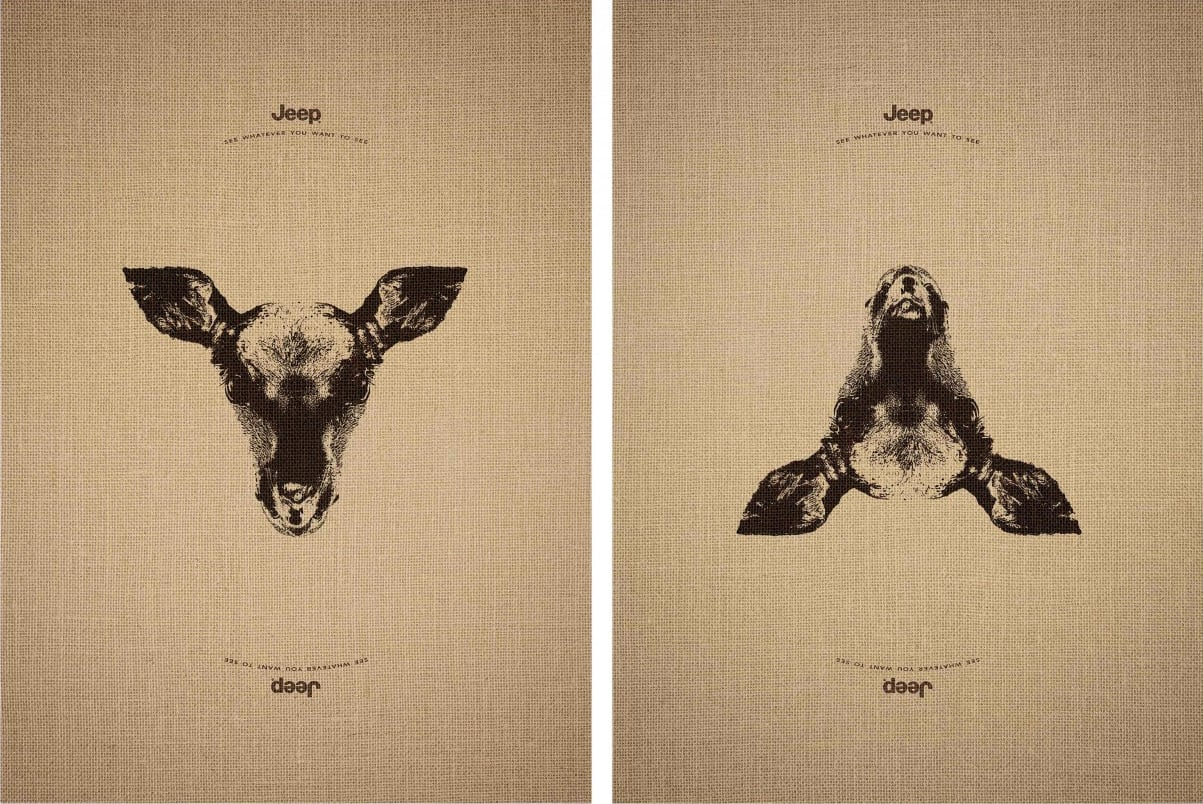 Stunning Jeep Adverts That Reveal Hidden Animals When Images Flipped Upside Down -animals, advertising campaign, advertisement