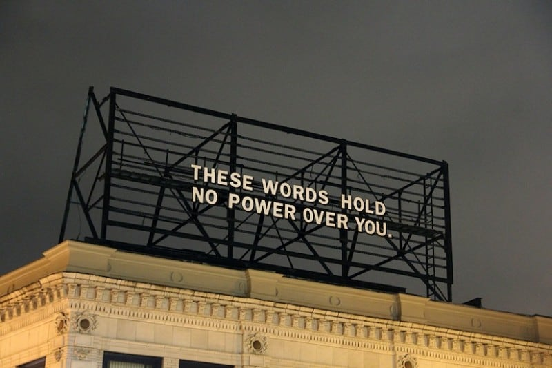 Billboard with Messages from Everyday Individuals -