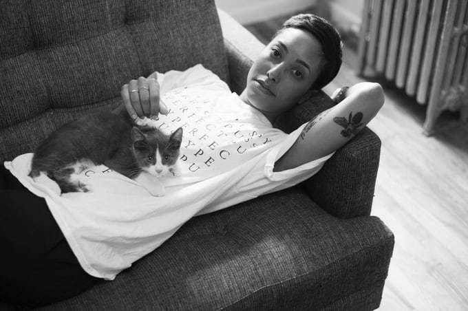New York Photographer BriAnne Wills Girls With Their Furry Companions -tumblr, girls, cats, blog