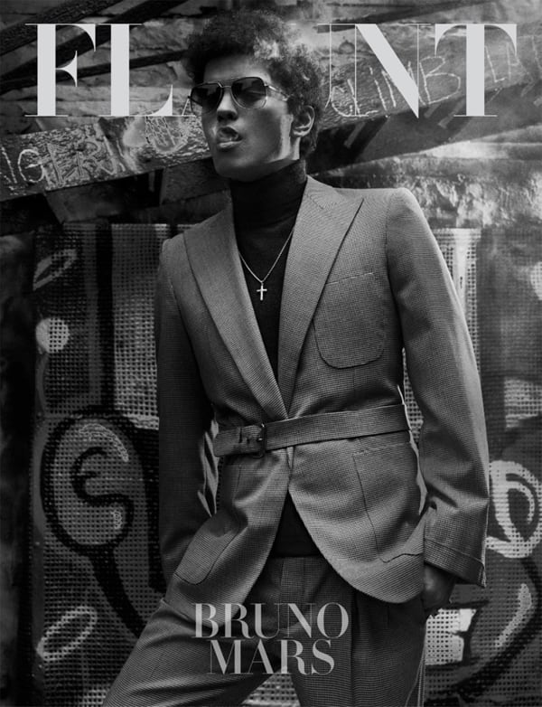 Bruno Mars Covers Flaunt Magazine -photo session, black and white