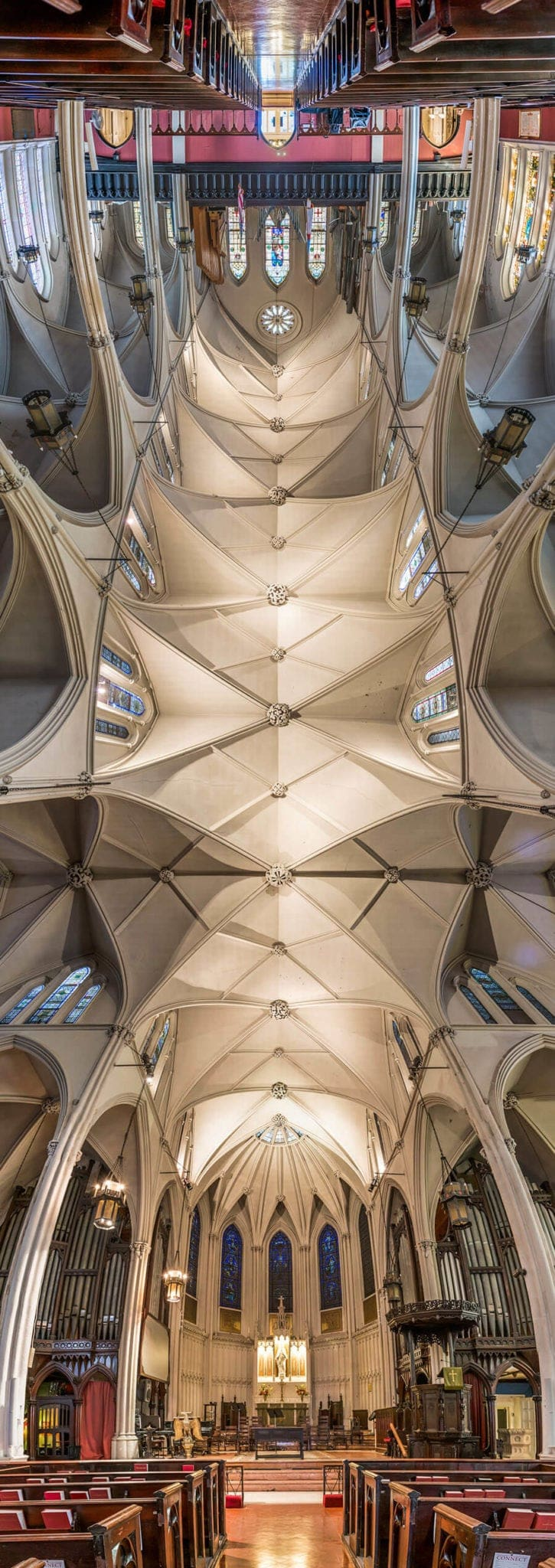 Vertical Panoramic Images of New York Churches by Richard Silver -new york, feat, churches, architecture