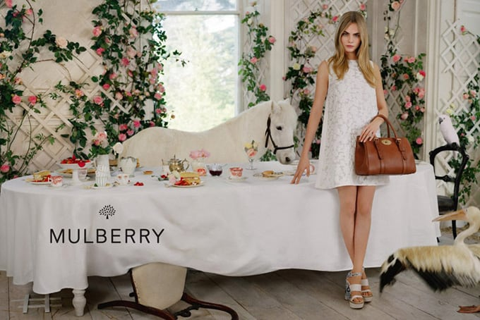 Cara Delevingne for Mulberry Advertising Campaign -top-model, Tim Walker, photographer, models, model, Cara Delevingne, advertising campaign