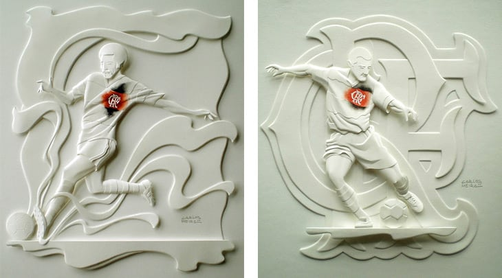 Lovely Paper Sculptures by Carlos Meira -paper sculptures