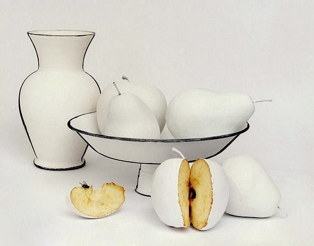 Cynthia Greig - Ordinary Household Objects Painted Like Black White Line Drawings