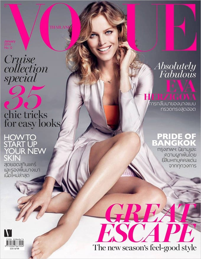 Eva Herzigova for Vogue Thailand -vogue, supermodel, photographer, models, model, Eva Herzigova