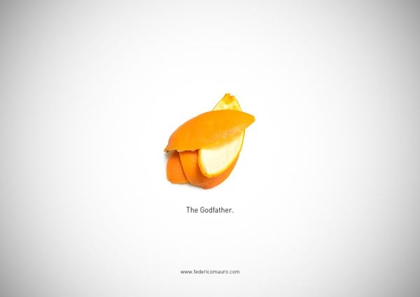 Illustrations of Food from Famous Movies by Federico Mauro -movies, movie, illustrator, illustration, Federico Mauro, famous, artist