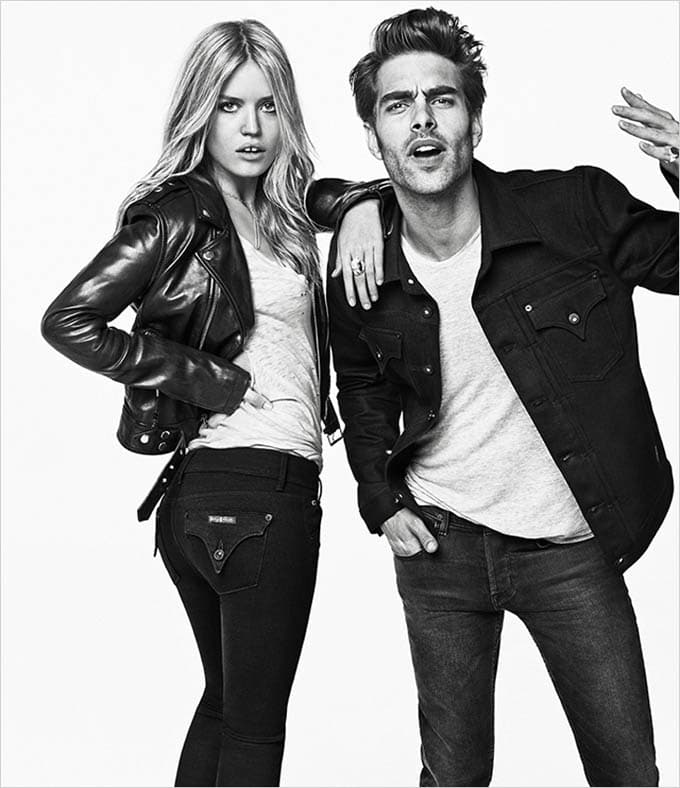 Georgia May Jagger and Jon Kortajarena for Hudson Jeans -supermodel, models, georgia may jagger, advertising campaign