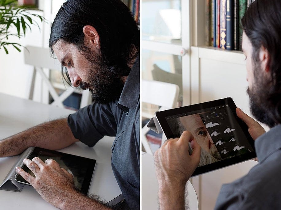 The Artist Draws Unusual Hyperrealistic Paintings on iPad -portraits, ipad, hyper-realistic, drawings