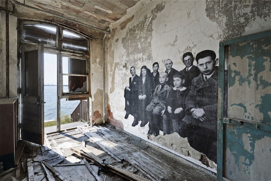 Haunting Photo Exhibition In Abandoned Ellis Island Hospital by JR -artist