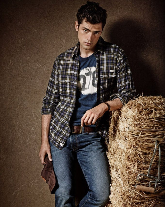 "Lucky Brand FW13 Giampaolo Sgura 02 - Edita Vilkeviciute and Sean O'Pry for Advertising Campaign ""Lucky Brand"""