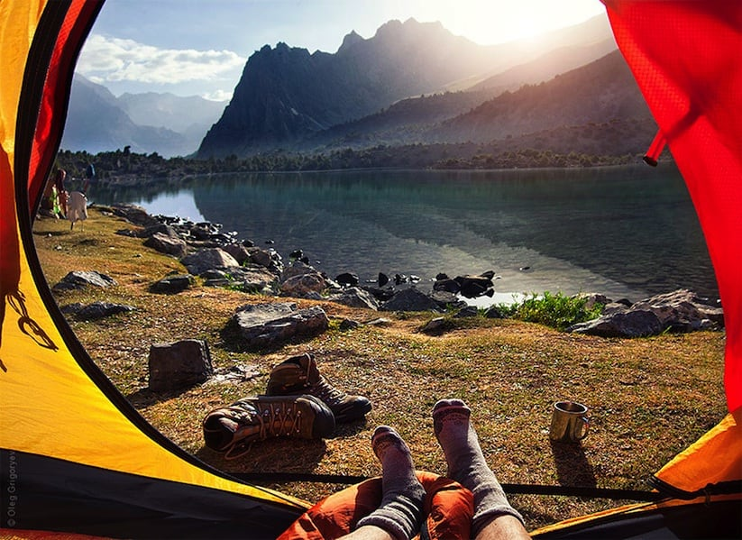 """""""Morning Views From The Tent"""" – Beautiful Images from the Fann Mountains of Tajikistan -"""