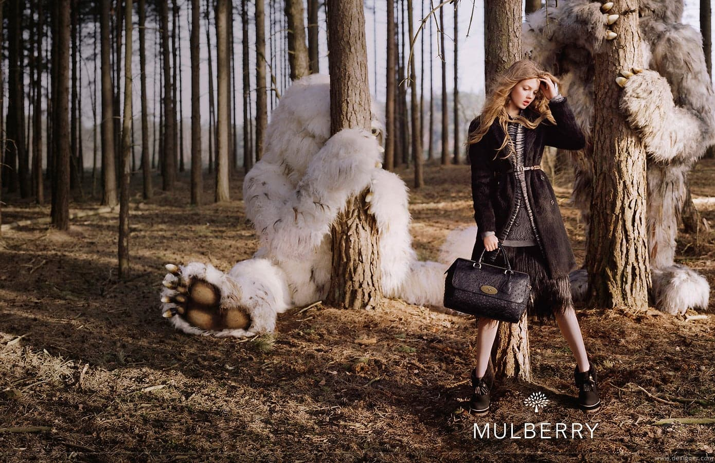 A Forest Fairytale for Mulberry -Tim Walker, photographer, photo session, forest, british, advertising campaign