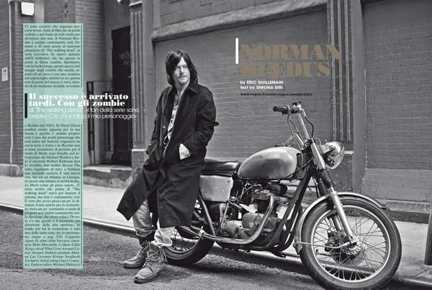 Norman Reedus for L'Uomo Vogue by Eric Guillemain -photoshoot