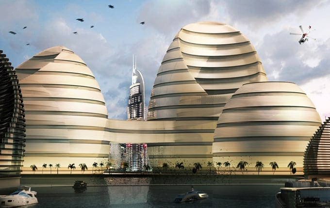 """Organic Cities"" for UAE by Luca Curci Architects -city, building"