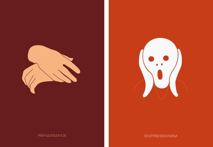 OutmaneAmahou00 - Minimalistic Posters Of Major Art Movements