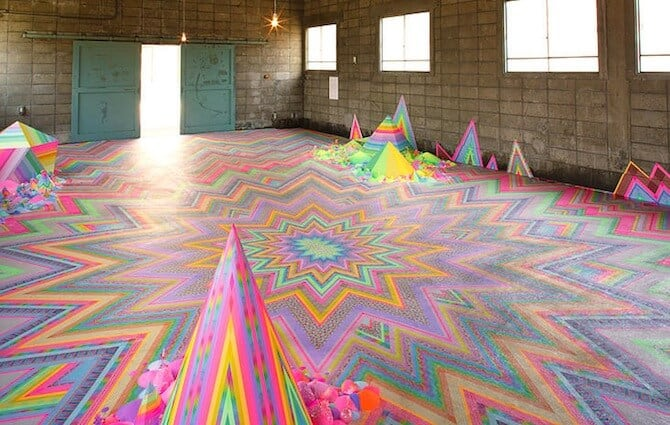 Australian Artist Pip & Pop Creates Psychedelic Candy Installations -installations, candy