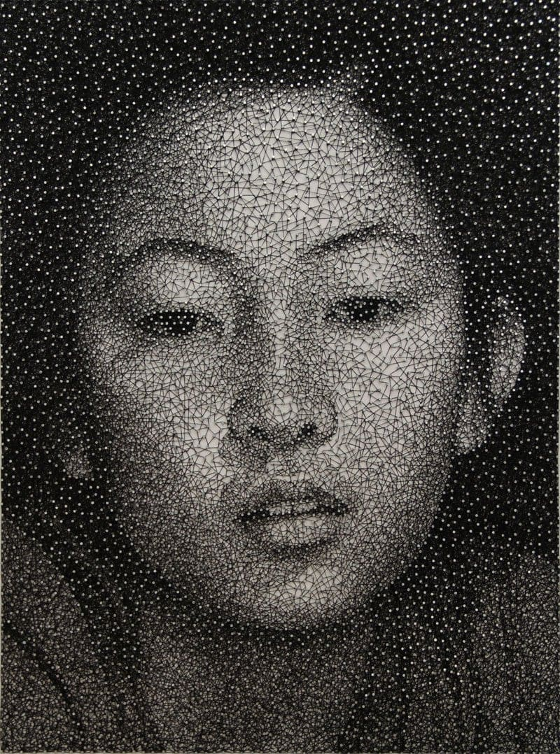 Portraits Made From a Single Thread Wrapped Around Thousands of Nails By Kumi Yamashita Rungmasti.com 01 - Portraits Made From a Single Thread Wrapped Around Thousands of Nails By Kumi Yamashita