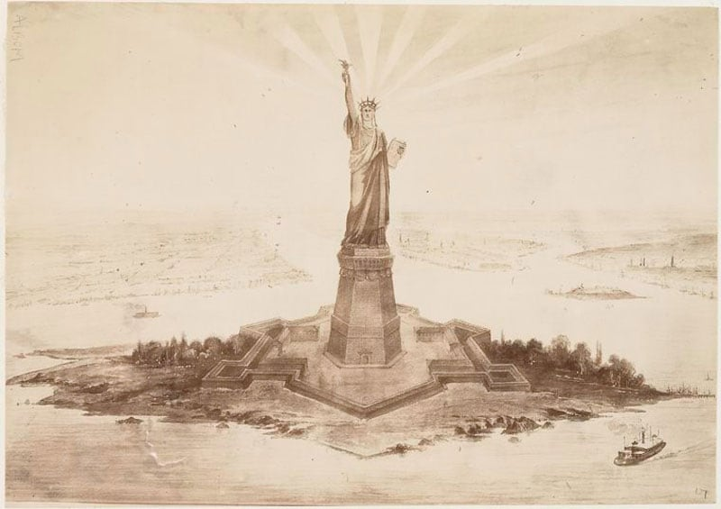 Rare Pictures of the Statue of Liberty Construction -history