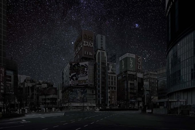 Darkened Cities by Thierry Cohen -photographer, cities, black and white