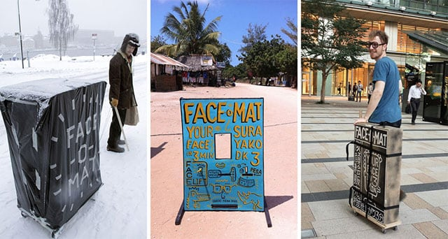 "Artist Tobias Gutmann Travels 25.000 Miles with ""Face-o-mat"" Photo Booth -"