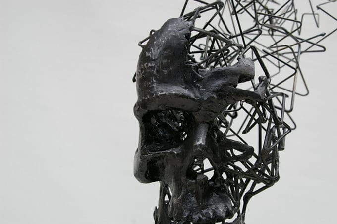 Steel Wire Sculptures by Tomohiro Inaba -sculptures, sculptor