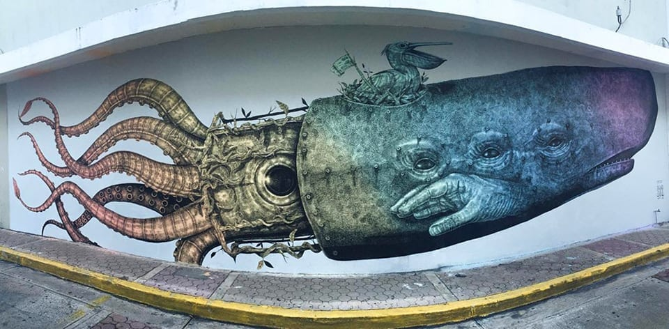 Hybrid Animal and Wildlife Street Art Created by Alexis Diaz -street-artist, murals