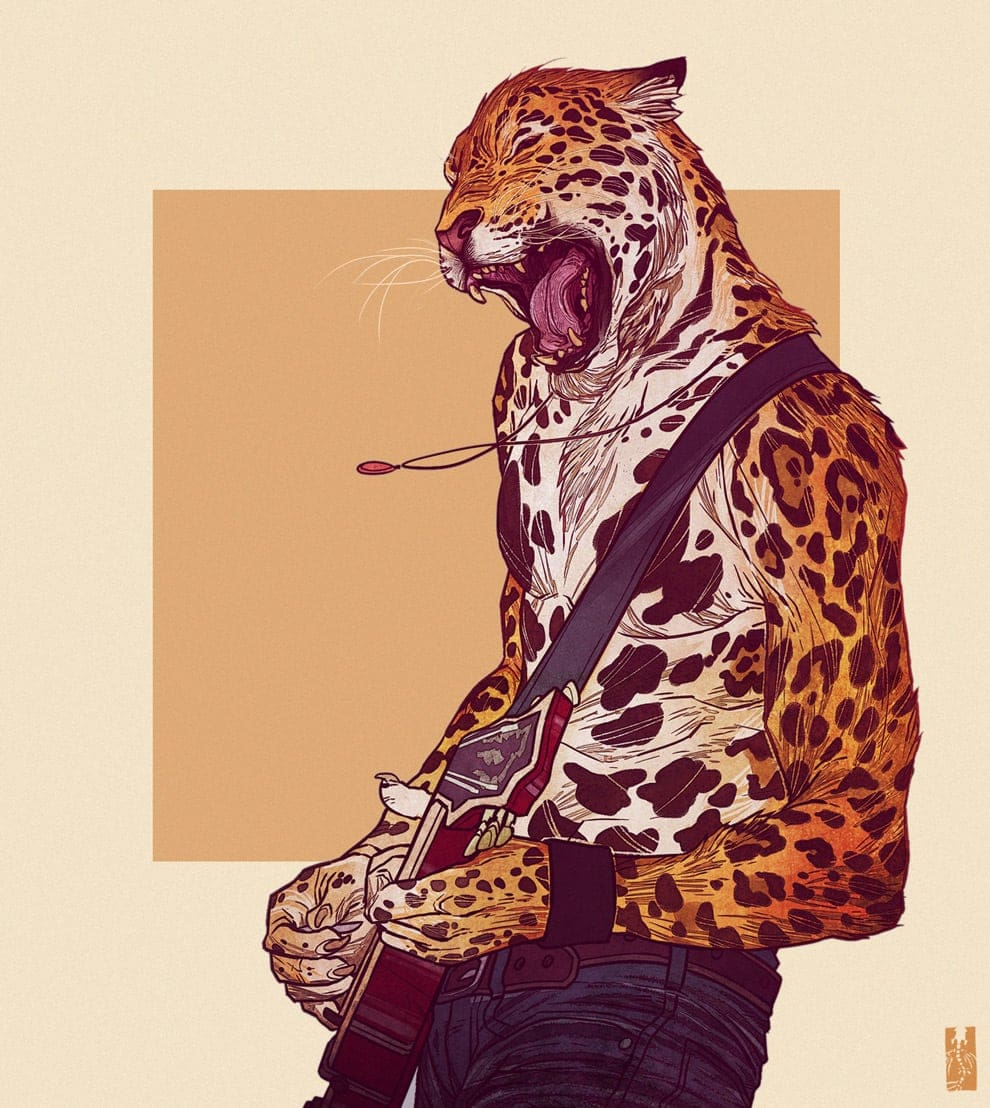 Illustrations of Animals with Human Personalities by Kim Nguyen -animals