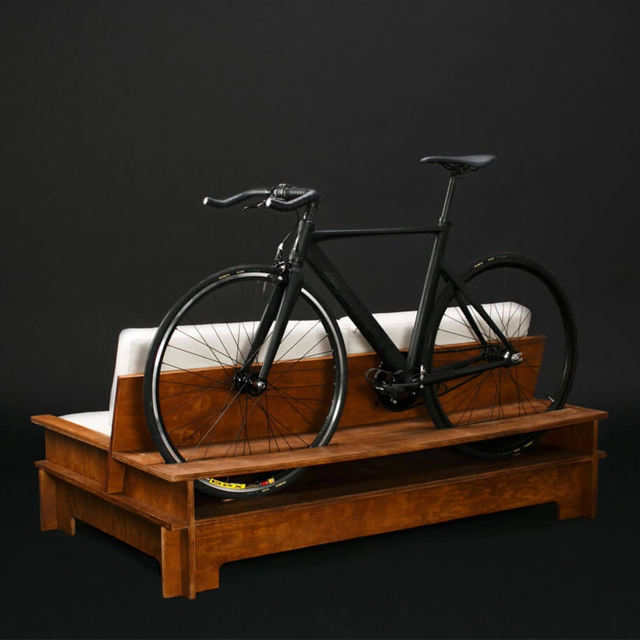 Furniture Designed to Double As Bike Rack To Save Space In Tiny Apartments -furniture, bicycles