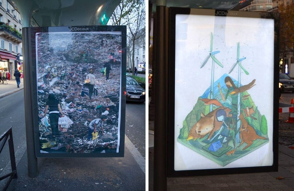 brandalism freeyork 1 - Brandalism: 82 Artists Place 600 Fake Ads Over Paris to Protest the COP21 Climate Conference