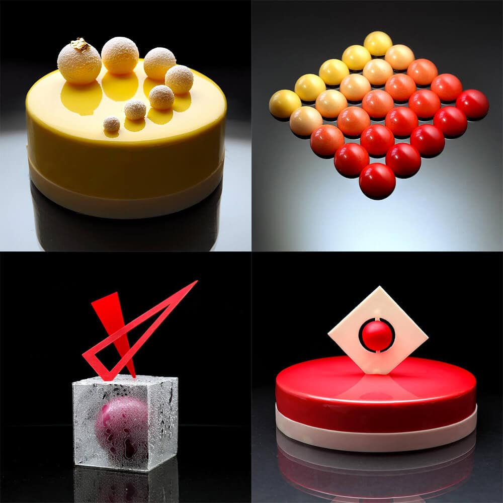 Amazing Geometric Cake Designs by Dinara Kasko