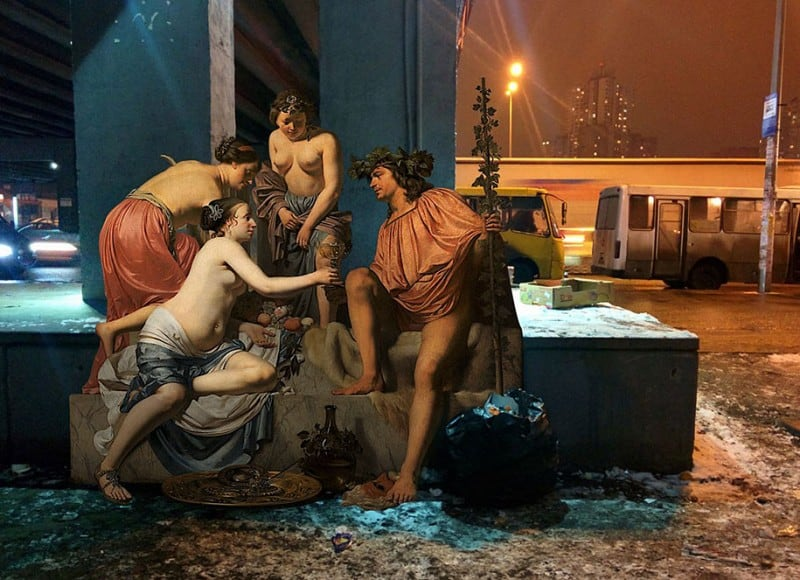 Heroes of Classical Paintings Transported To The Streets Of Modern Kiev -Renaissance, paintings
