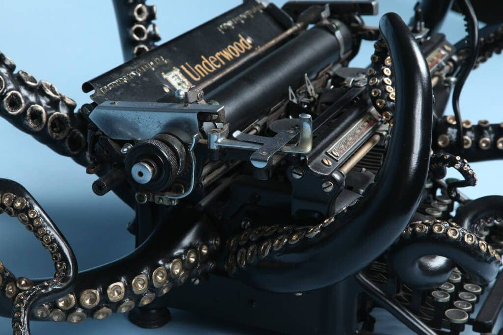 Typewriter With Sculpted Tentacles  by Courtney Brown -Video