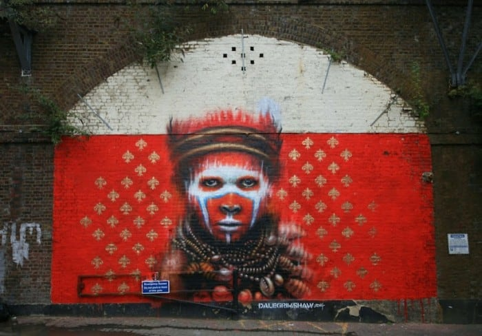 dale grimshaw camden london 01 700x488 - Streetart: New Mural by Dale Grimshaw in Camden