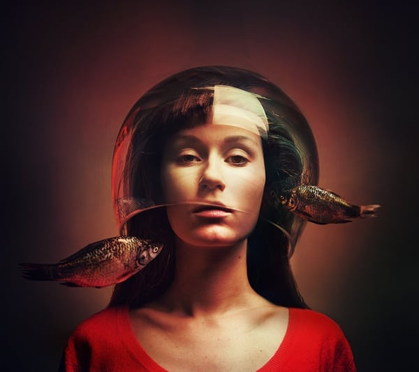Surreal Self-Portraits by Flora Borsi -surrealistic, surrealism, surreal, self-portraits, portraits, portrait, photographer