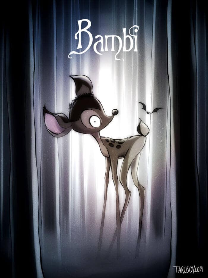 If Disney Movies Had Been Directed By Tim Burton -disney