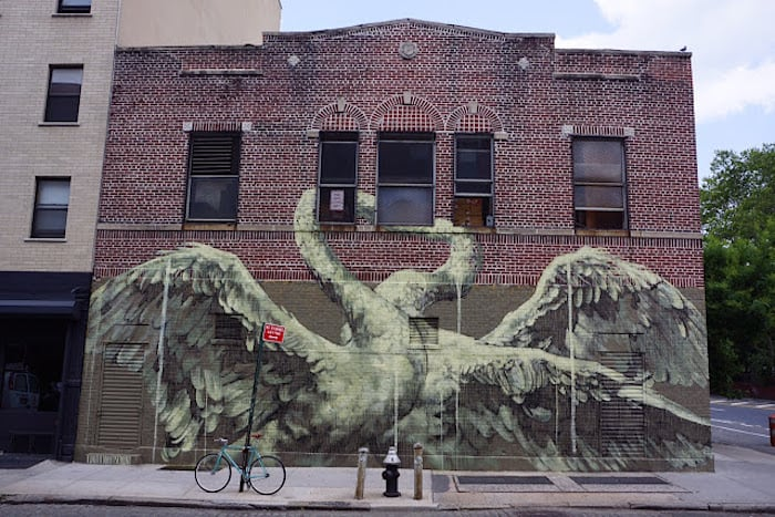 Psychic Power of Animals – New Mural by Faith47 in Manhattan / New York -public, new york