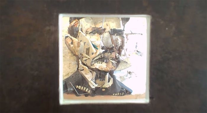 Optical Illusion Portrait of Ferdinand Cheval made of Household Objects and Furniture -optical illusion, furniture