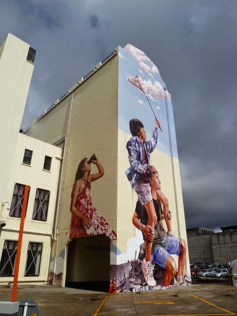 New Mural by Fintan Magee in Dunedin, New Zealand -streets, public art, new zealand