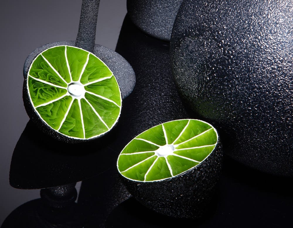 Artist Creates Beautiful Glass Cross Sections of Fruit and Other Foods -sculptures, sculpture, glass, food