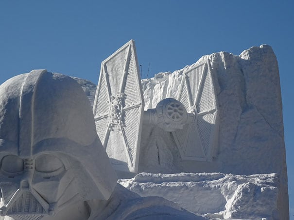 giant star wars snow sculpture sapporo festival japan 10 - Japanese Army Builds Enormous Star Wars Sculpture For Snow Festival